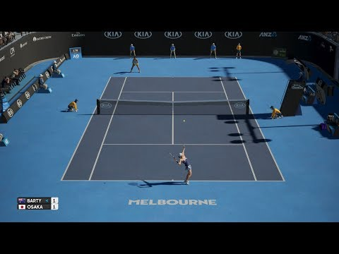 AO Tennis - Ashleigh Barty (CPU) vs Naomi Osaka (CPU) - Fast4 Match - PS4 Gameplay