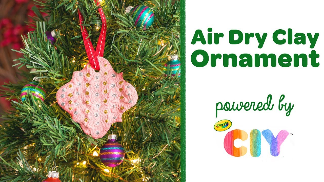 Diy air dry clay imprint ornament crayola ciy create it yourself diy air dry clay imprint ornament crayola ciy create it yourself week of ornaments solutioingenieria Choice Image