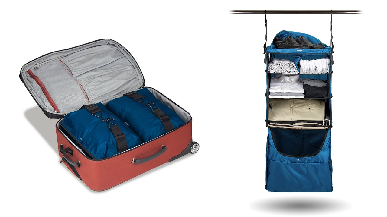 Suitcase With Drawers Riser Collapsible Shelves Luggage Insert Blue Youtube