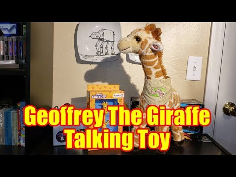 Geoffrey The Giraffe Retro Talking Toy From Toys R Us | All Phrases!