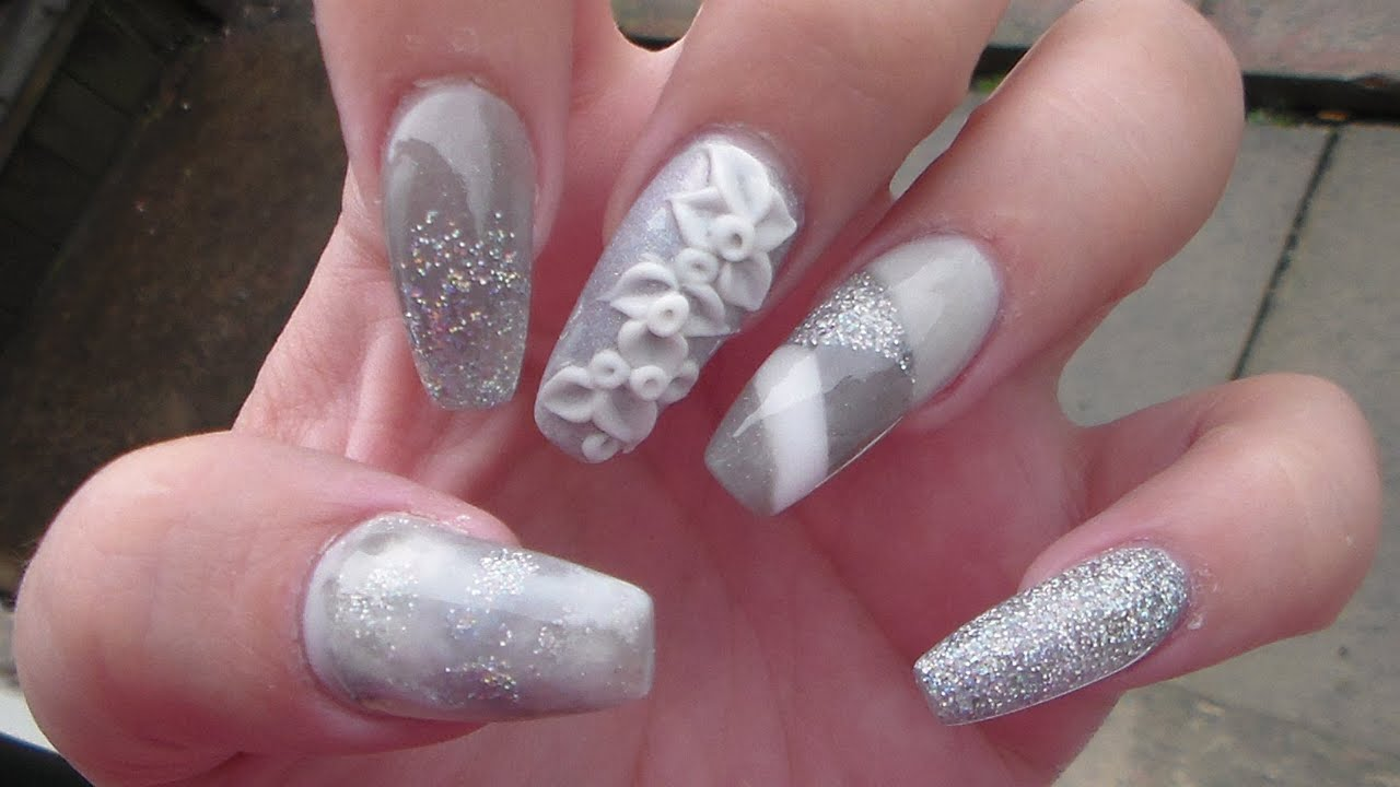 Sculpted Acrylic nails | Ballerina Shape - YouTube