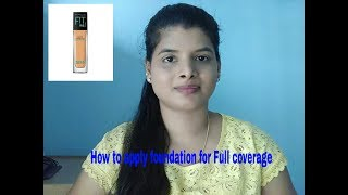 How to Apply Foundation for Full Coverage, Natural looking & Flawless|Beauty withrovina