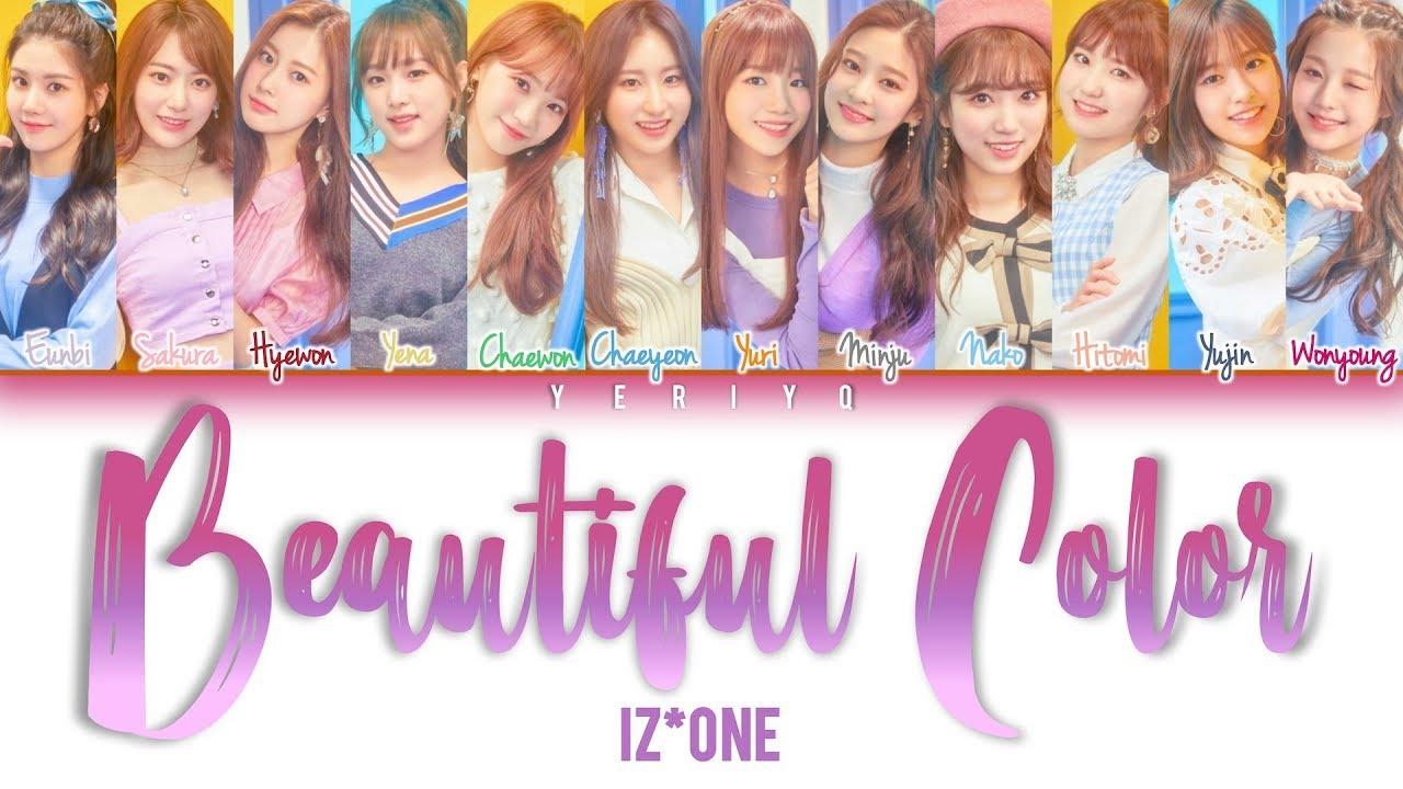 IZ*ONE - Beautiful Color (아름다운 색) Lyrics (Color Coded Han/Rom/Eng)
