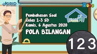 Pembahasan Soal TVRI SD Kelas 1-3 - Kamis, 6 Agustus 2020 - Pola Bilangan #BelajardariRumah
