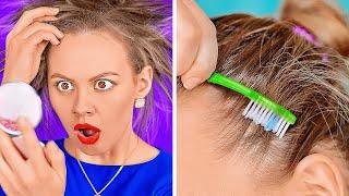 حيل مفيدة للفتيات لحل مشاكل الشعر || نصائح تجميل سهلة