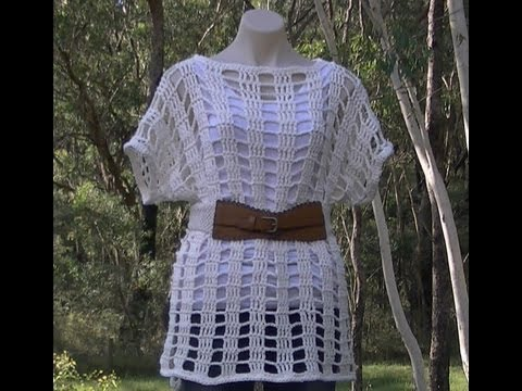 Mesh Summer Top Crochet Tutorial Part 2 of 2