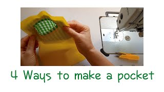 4 Ways to make a pocket (Lois …