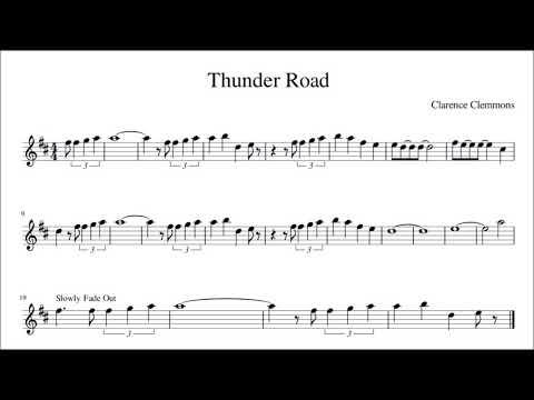 Road Sax Solo Altobari Sax Sheet Music