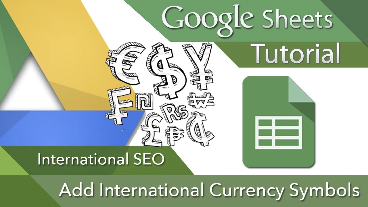 International Seo Currency Symbol Google Spreadsheets Step By Step