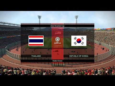 THAILAND vs REPUBLIC OF KOREA Full Match Amazing Goals HD | PES 2019 Gameplay PC