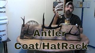 Deer Antler Coat/Hat Rack