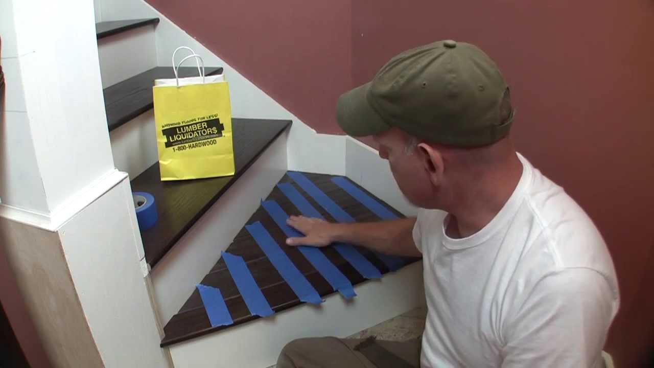 Stair Landing With Hardwood Flooring Hinky Series Pt 1 Youtube   Oak Stair Tread Caps   Pergo Outlast   Scraped Oak   Riser Kit   Wood   Sp125 4F048C