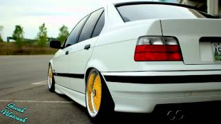 Static Slammed E36 | White and Yellow Edition