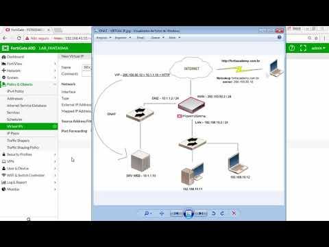 19 - FORTINET FIREWALL FORTIGATE - DNAT - Virtual IP