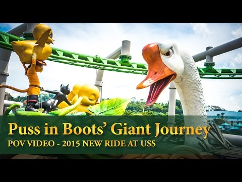 USS Puss in Boots' Giant Journey POV Universal Studios Singapore WORLD'S FIRST PIB ROLLER COASTER!