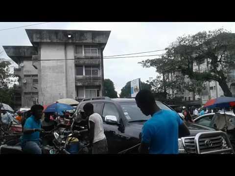 Traffic jam in Douala
