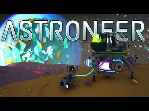 Generate Astroneer - Ep. 5 - Building a Shuttle and Barren Planet! - Let's Play Astroneer Gameplay Pre-Alpha Screenshots