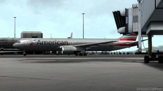 (FSX HD) American 767 Landing into San Francisco
