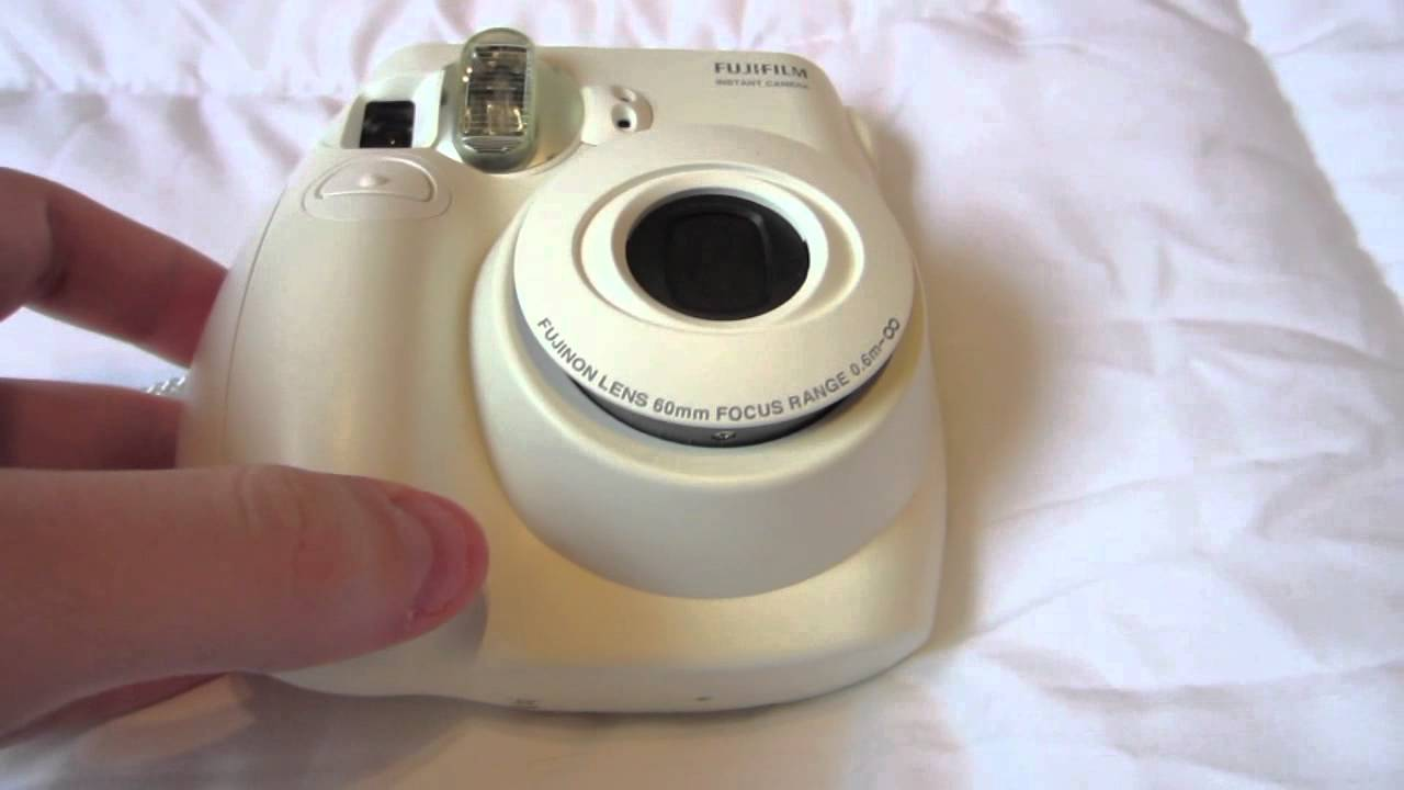 Fujifilm Instax MINI 7s White Instant Film Camera Review - YouTube