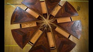 Expandable Round Table Time Lapse - Western Heritage Furniture - Tim McClellan
