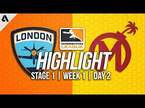 Florida Mayhem vs London Spitfire ft Birdring Profit | Overwatch League Highlights OWL Week 1 Day 2