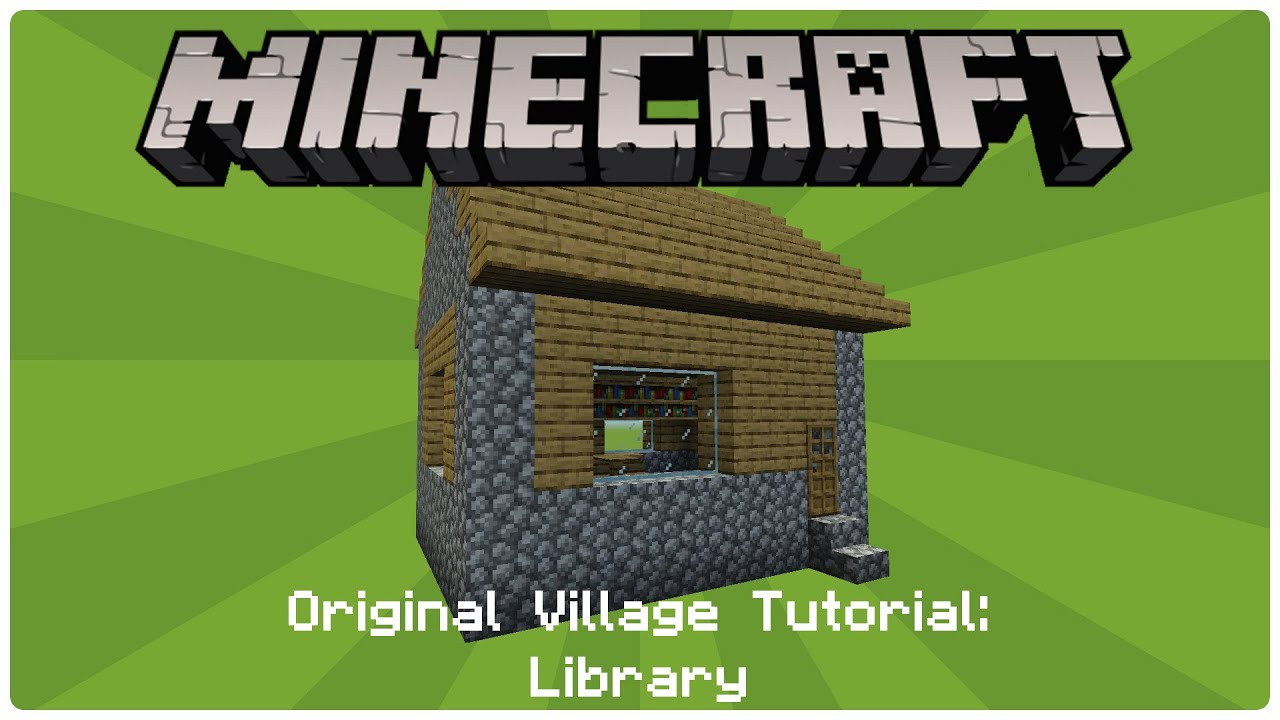 minecraft how to build a village library