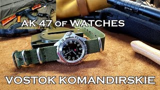 AK 47 of Watches: Vostok Komandirskie Zakaz MO CCCR + How To Set the Time and Date