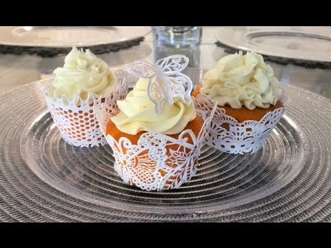 How to Make Cupcake Wrappers Using Cake Lace