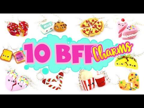 10 BFF FOOD Charm DIY's! – Polymer Clay Compilation 2!