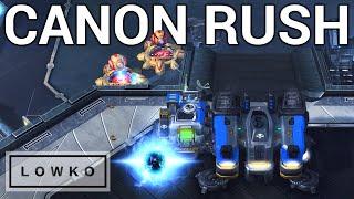 StarCraft 2: CANNON RUSHING A TERRAN?! (Florencio)