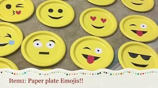 Diy Emoji Theme Party! Emoji Party Ideas | Emoji Birthday Party In Less Than 5$
