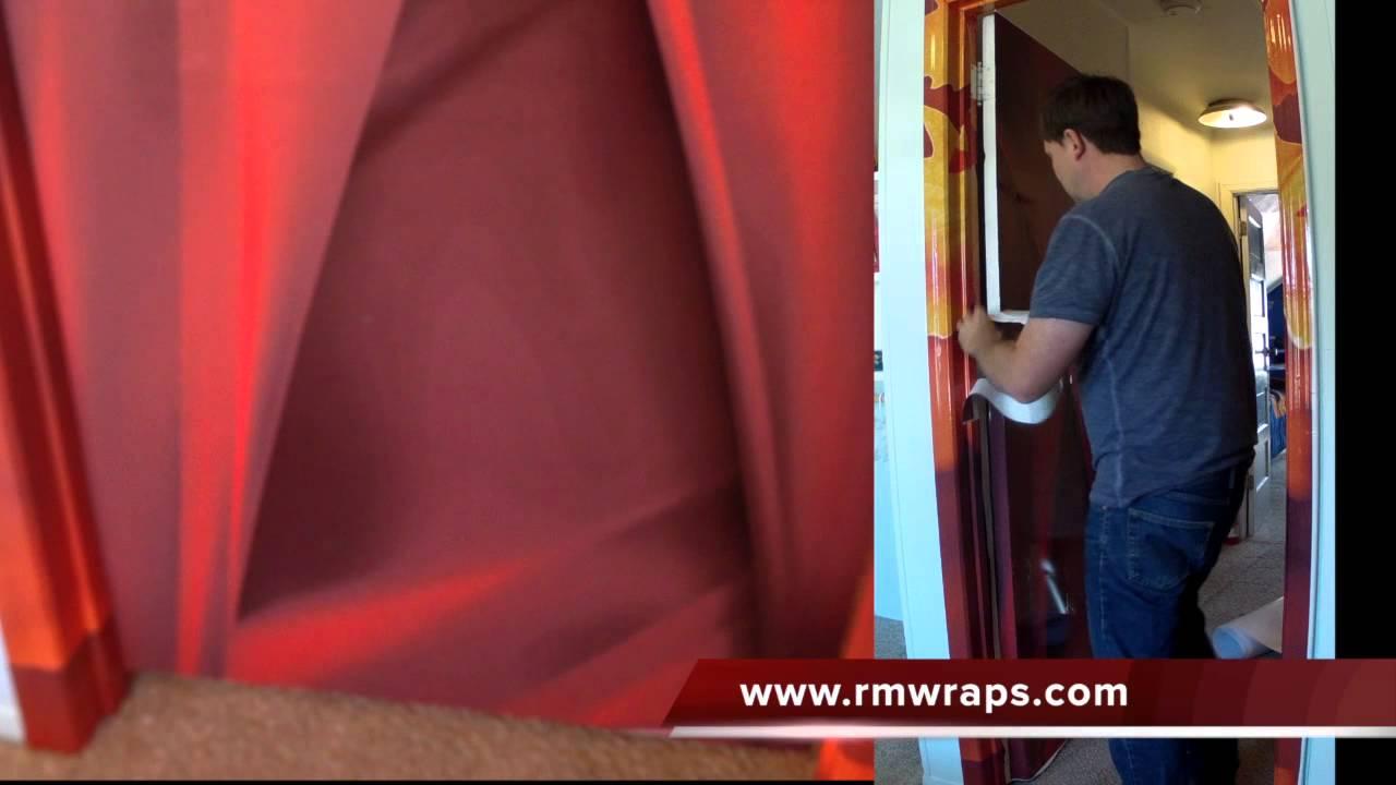 Door Wraps Door Wrap Red Color Rm Wraps Com Youtube
