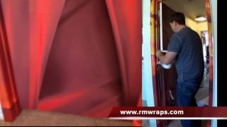 Door Wrap Red Color - Rm Wraps .com