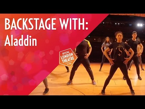 Backstage: warm-up with Aladdin