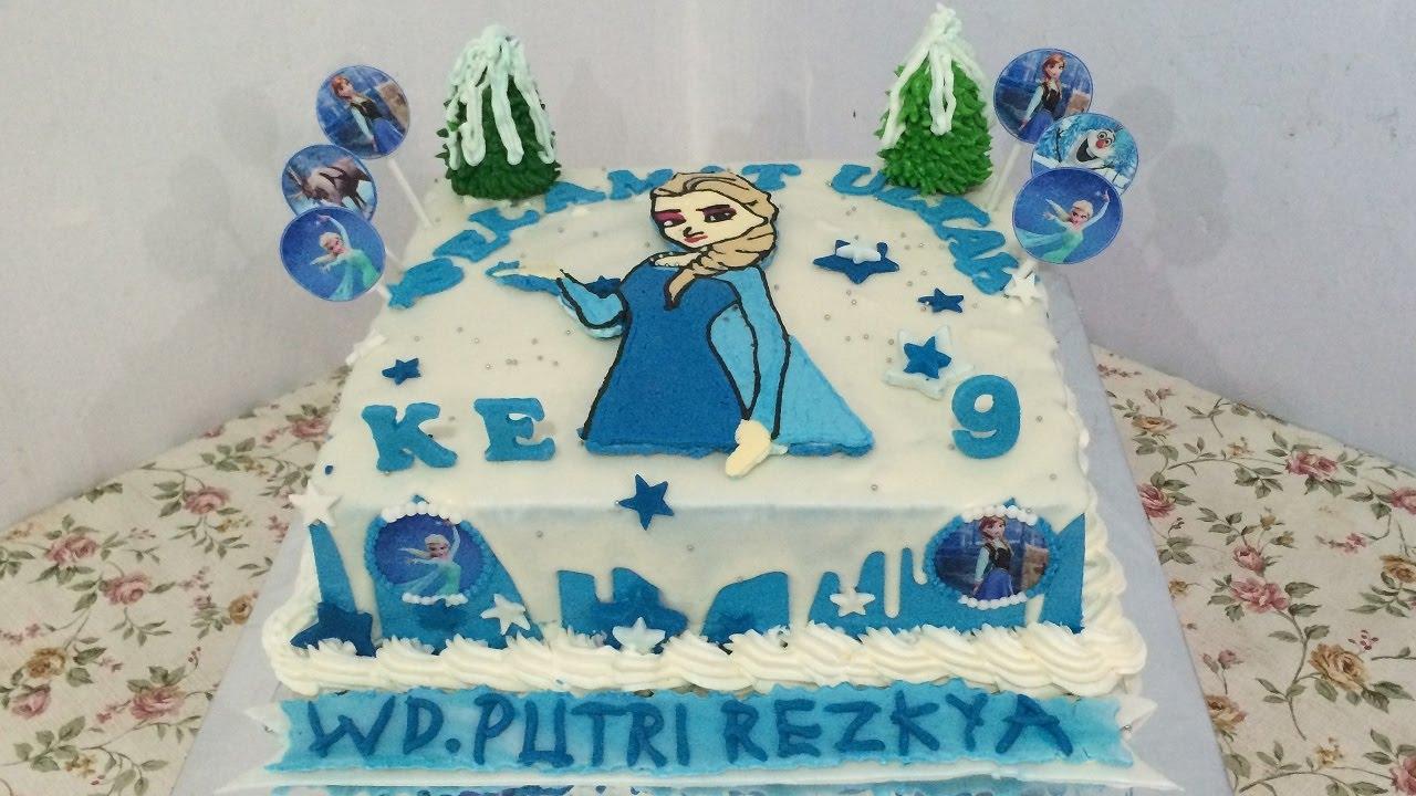 Cake Decorating Frozen Buttercream Transfer : Steam Buttercream Transfer Frozen How to Decorating - YouTube
