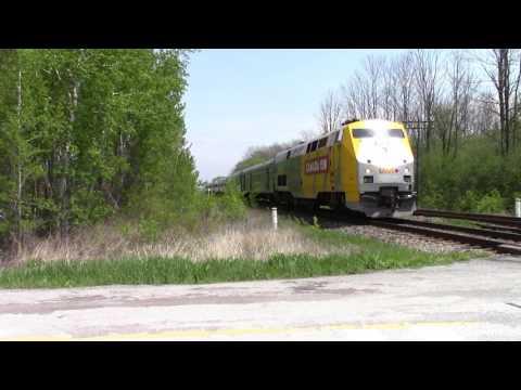 Ontario Trip 2017 Video 10 of 111: VIA 643 Near Newtonville Canada 22MAY17 P42DC 900 Leading