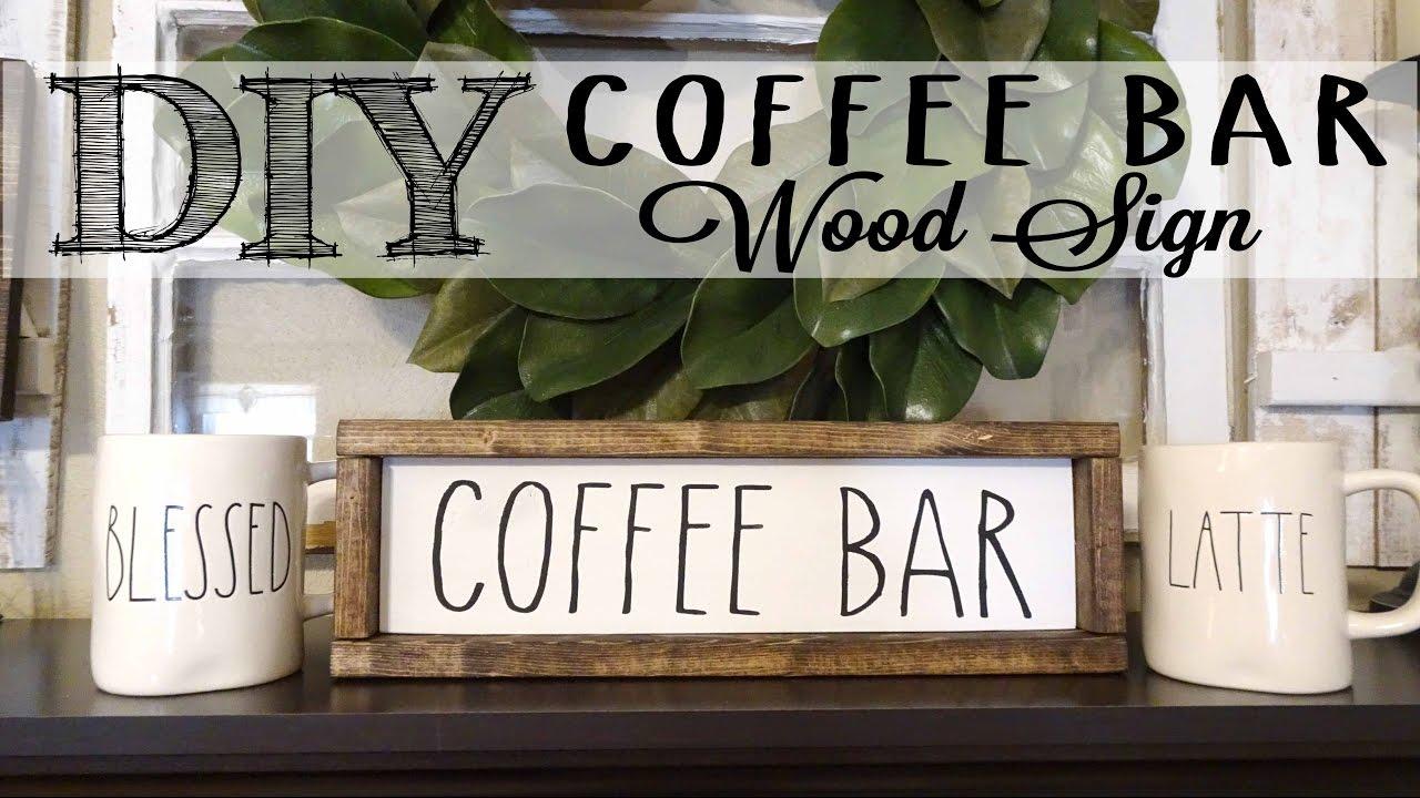 Wood Coffee Signs
