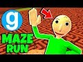 Brand New Baldi's Basics in Education and Learning Maze Run #1 - (Gmod Garry's Mod Sandbox)