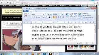 pagina para ver naruto shippuden subtitulado en español
