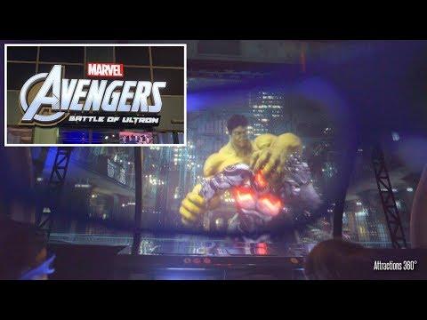[4K] Avengers: Battle Of Ultron Ride - IMG Worlds Of Adventure Indoor Theme Park