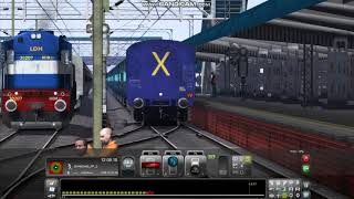 PC GAME Railworks train simulator 2017 Indian Addons AI Train huled by WDM3D Intiring Ludiana JN