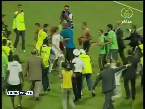 Libya vs Algeria fight soccer/football 2012 0-1