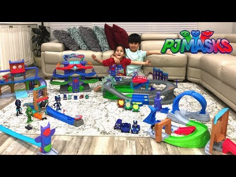 BIGGEST PJ MASKS TOYS Collection Playtime Fun With My Little Brother TBTFUNTV