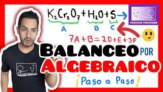 Balanceo de ecuaciones por método algebraico resolviendo por ecuaci...