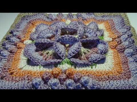 Crochet Flower 3D Granny Square !!ENGLISH!!
