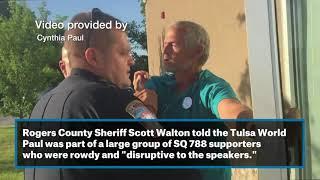 Medical marijuana advocate considers filing assault complaint against Rogers County Sheriff