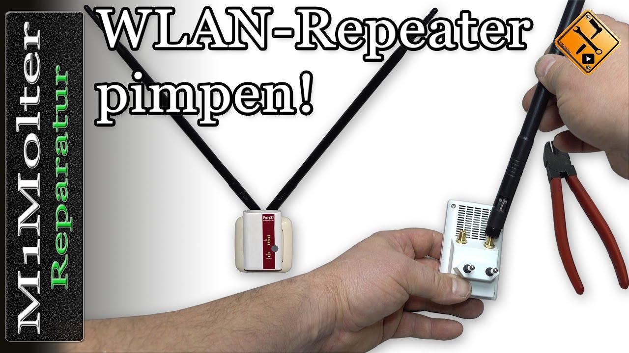 Wlan Repeater Externe Antenne Anbauen Von M1molter Youtube