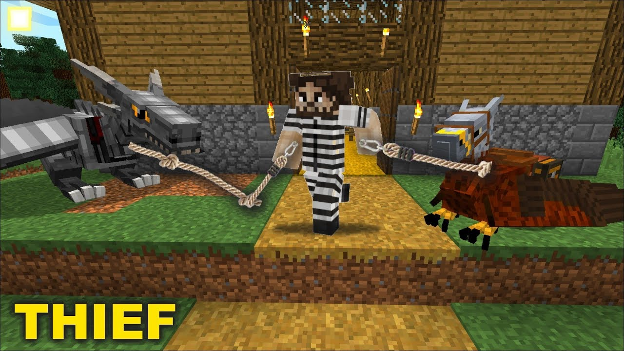 ROBBERS STEAL ZOMBIE FAMILY'S ANIMALS !! COPS AND ROBBERS !!