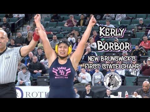 New Brunswick's Kerly Borbor Wins 180-Pound State Title   NJ Wrestling Final
