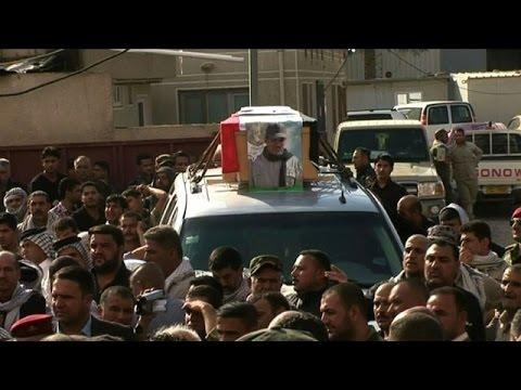 Irak: funérailles d'un commandant de la milice chiite Badr